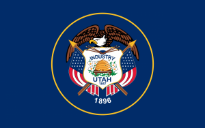 Our Utah Skinny Tie is modeled after the state flag of Utah